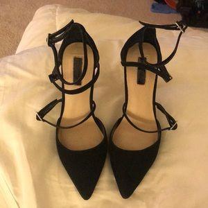 Black heels. Worn once
